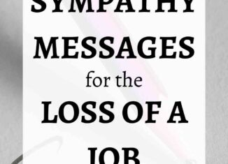 sympathy messages for loss of job
