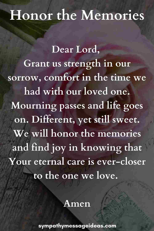 uplifting funeral prayer