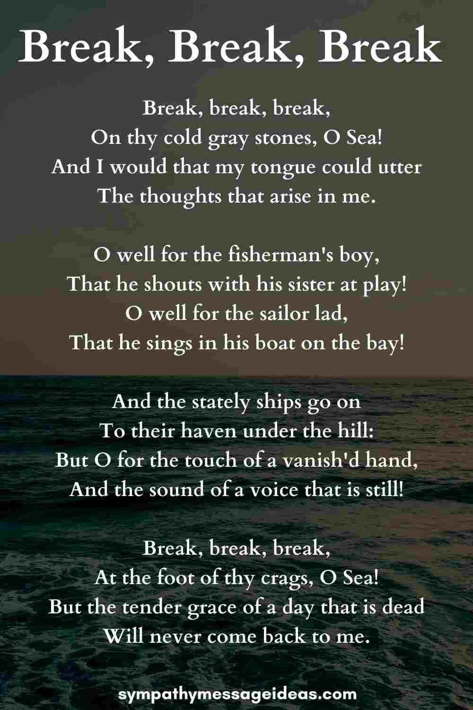 break break break funeral poem