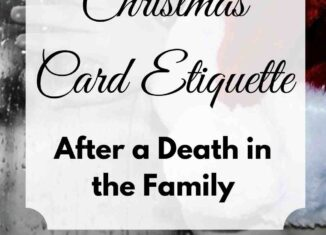 christmas card etiquette after a death in the family
