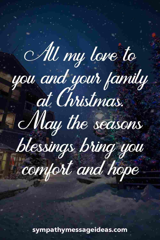 Christmas sympathy message