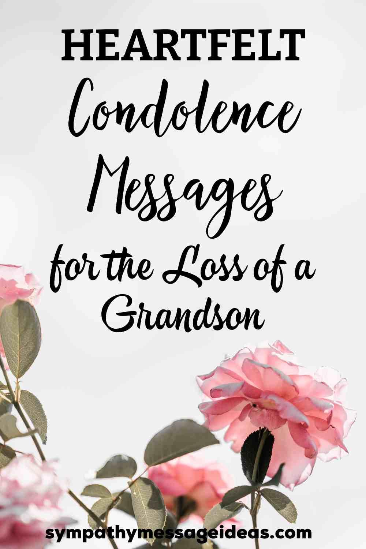 condolence messages for a grandson pinterest