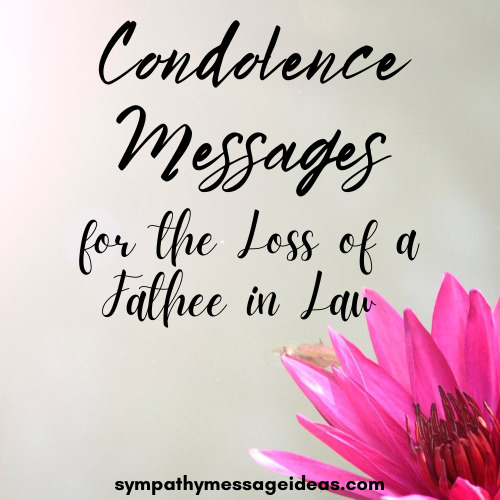 condolence messages for loss of father in law