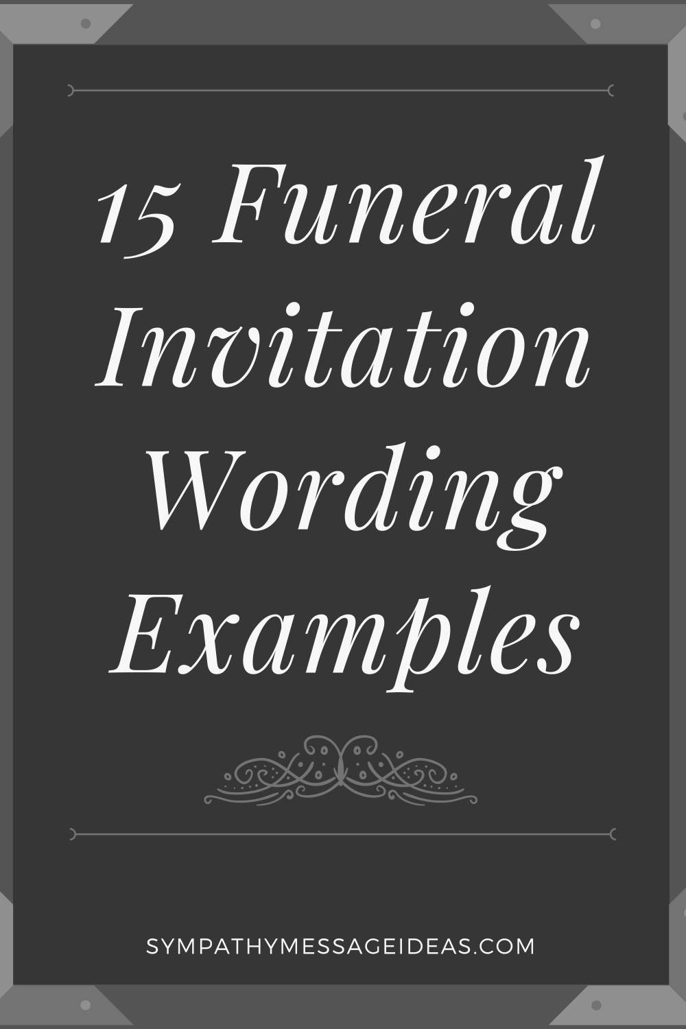 funeral invitation wording examples