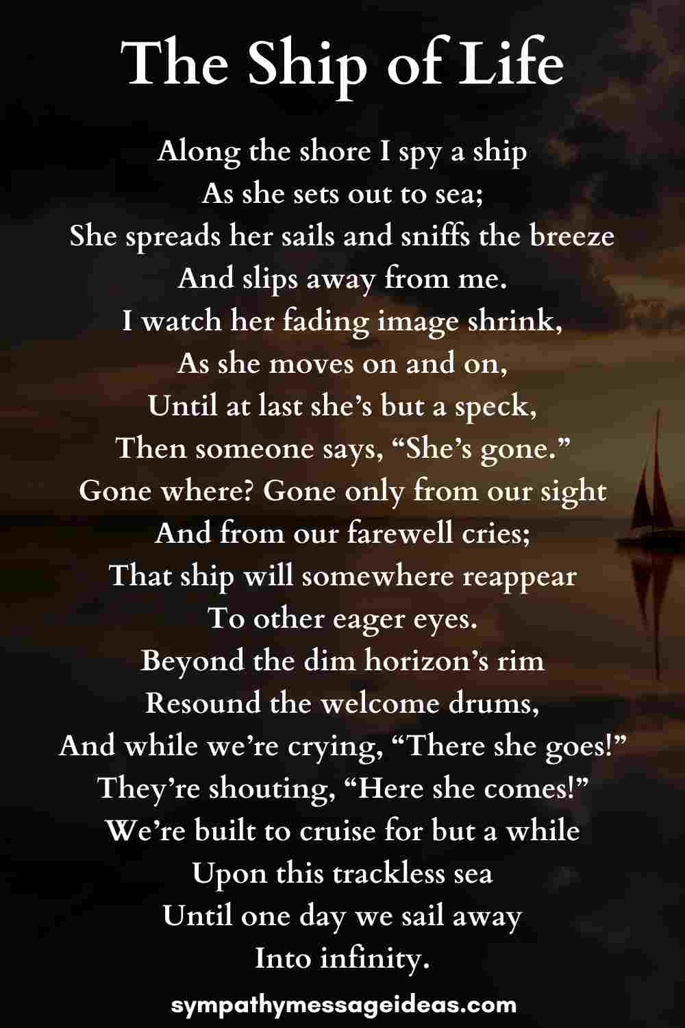 the ship of life poem for sailors