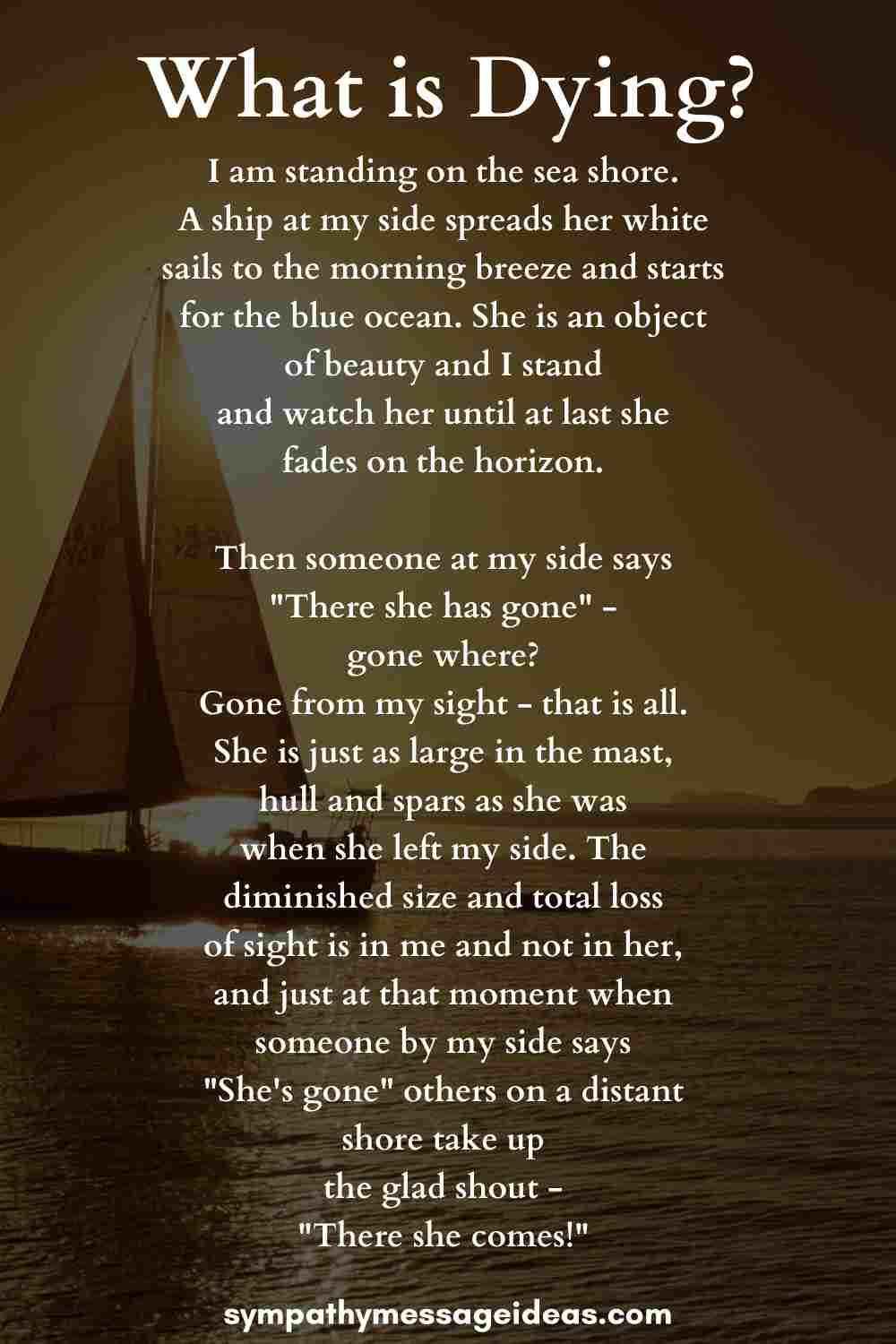 what is dying funeral poem for sailors