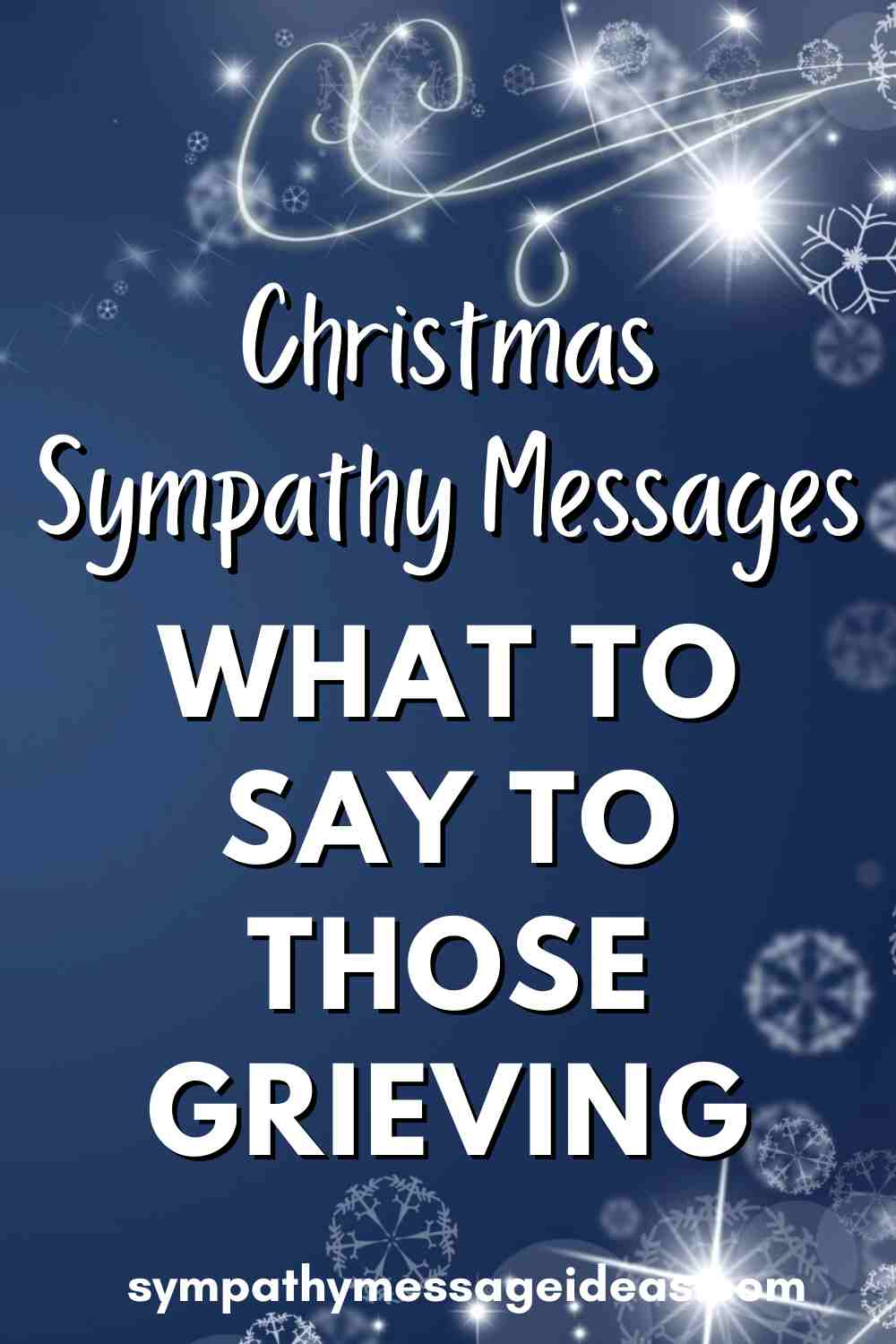 Christmas Sympathy messages