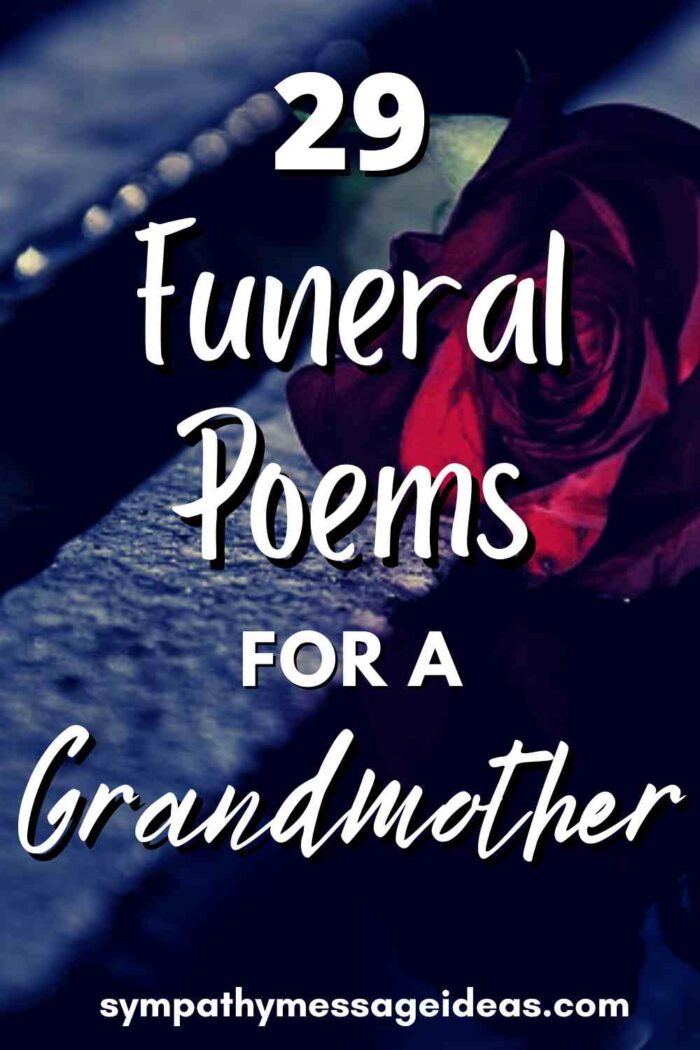 funeral poems for grandmother