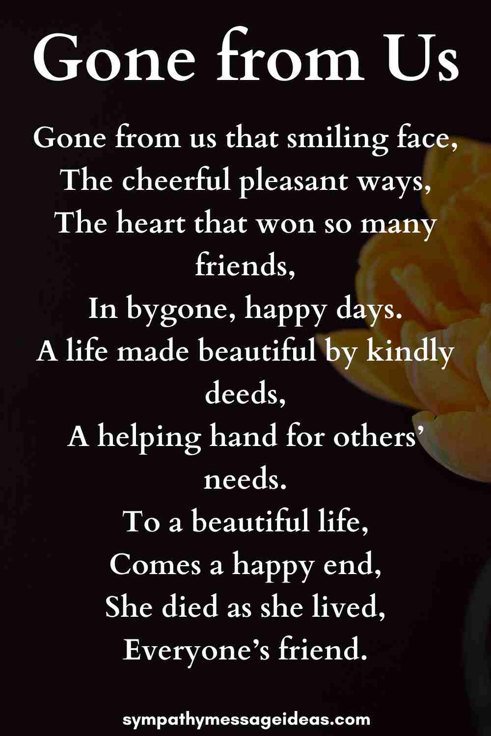 gone from us funeral poem for grandmother