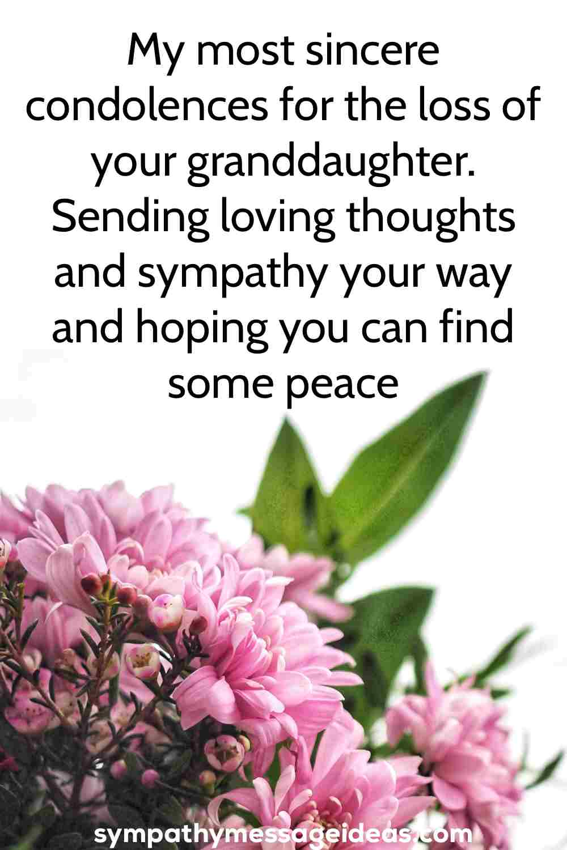 granddaughter sympathy message