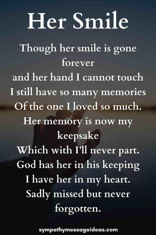her smile grandmother funeral poem