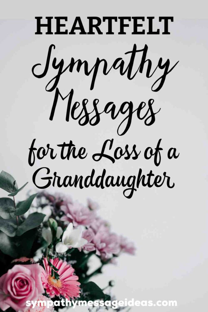 sympathy messages for loss of granddaughter