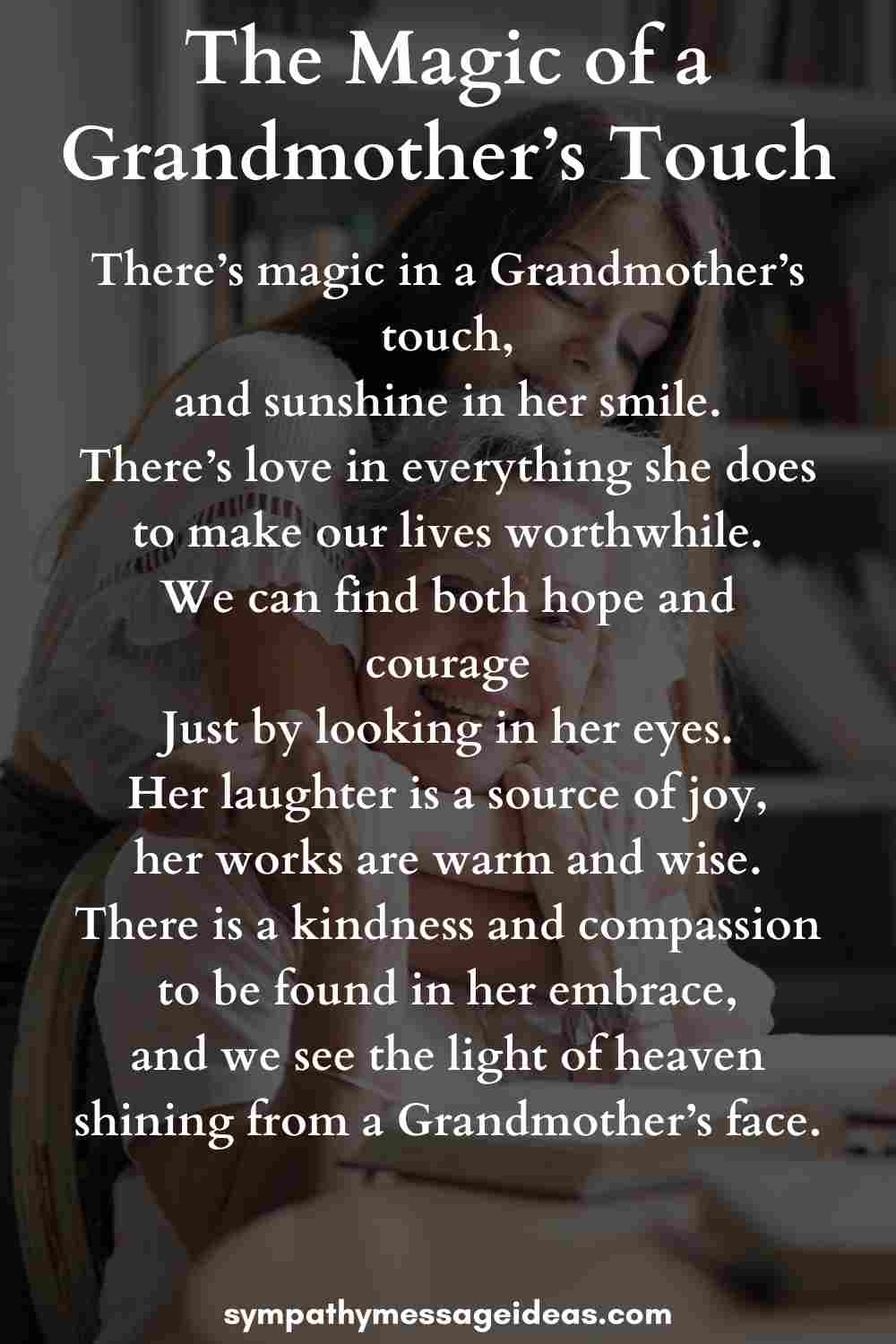 the magic of a grandmother touch poem