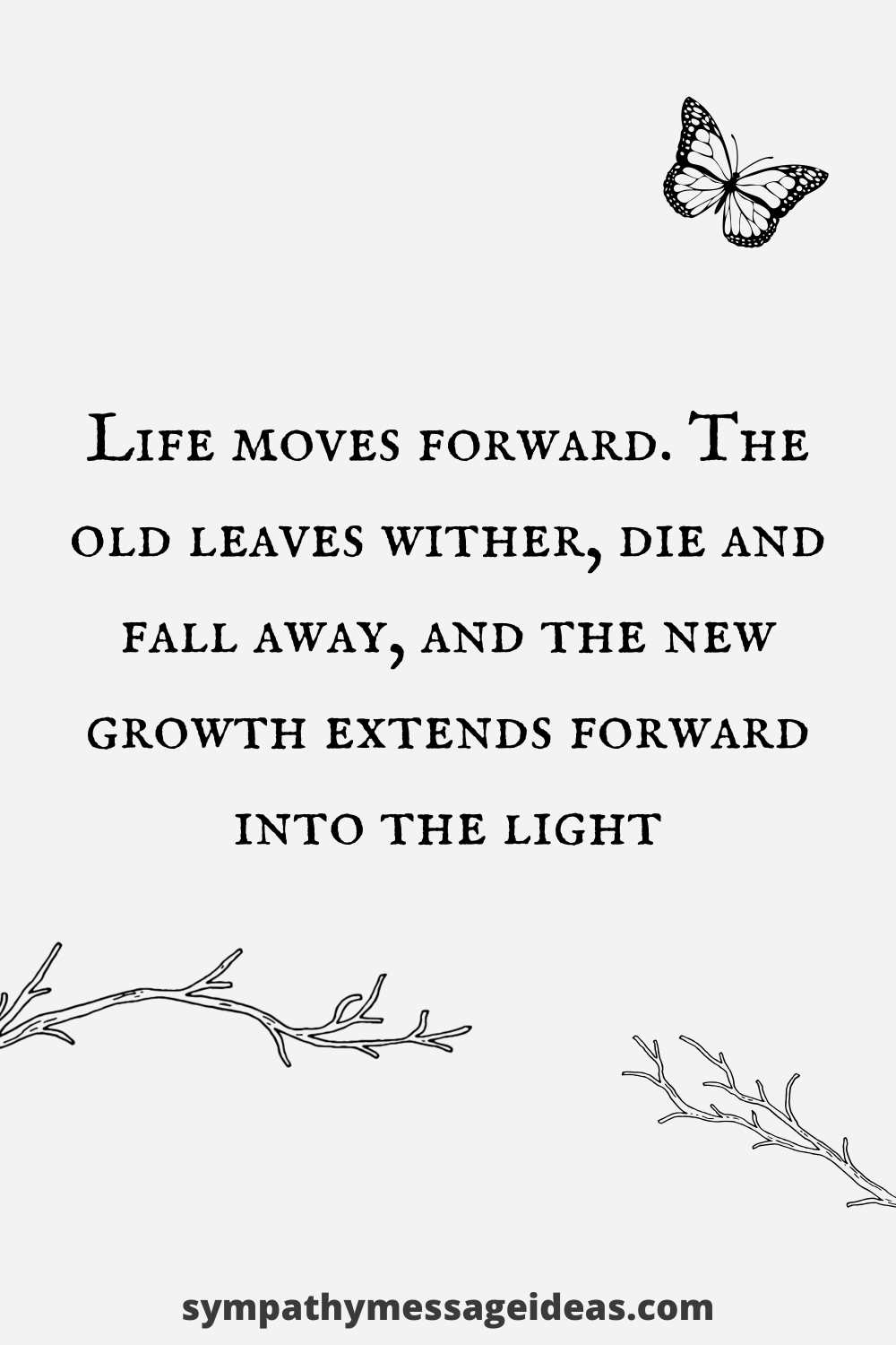life moves forward quote