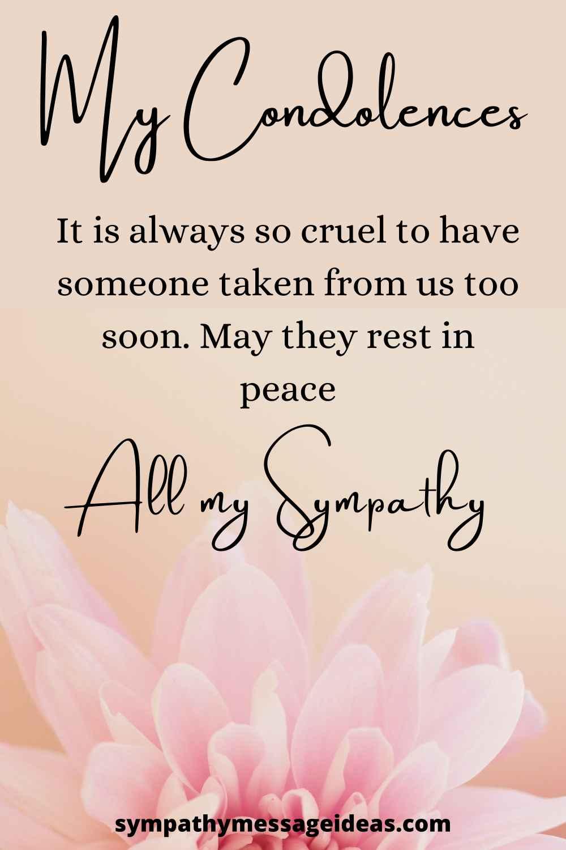 sympathy message for acquaintance