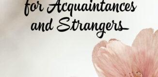 sympathy messages for acquaintances