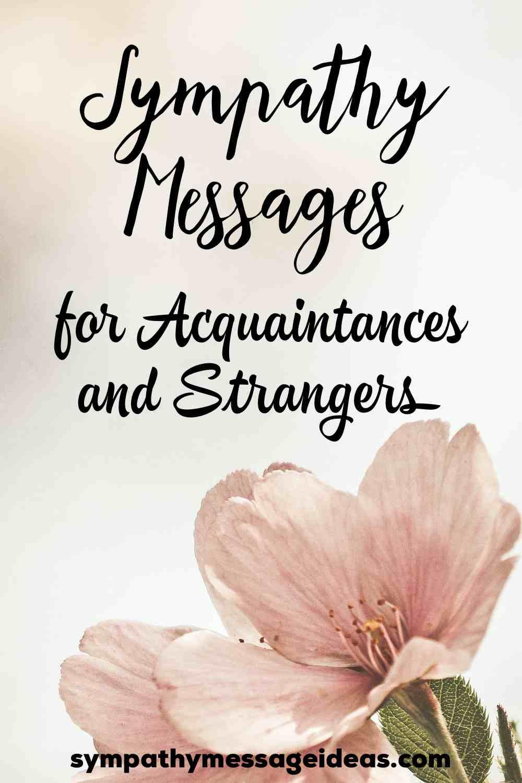 sympathy messages for acquaintances Pinterest