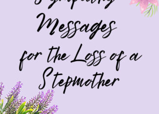 sympathy messages for loss of stepmother