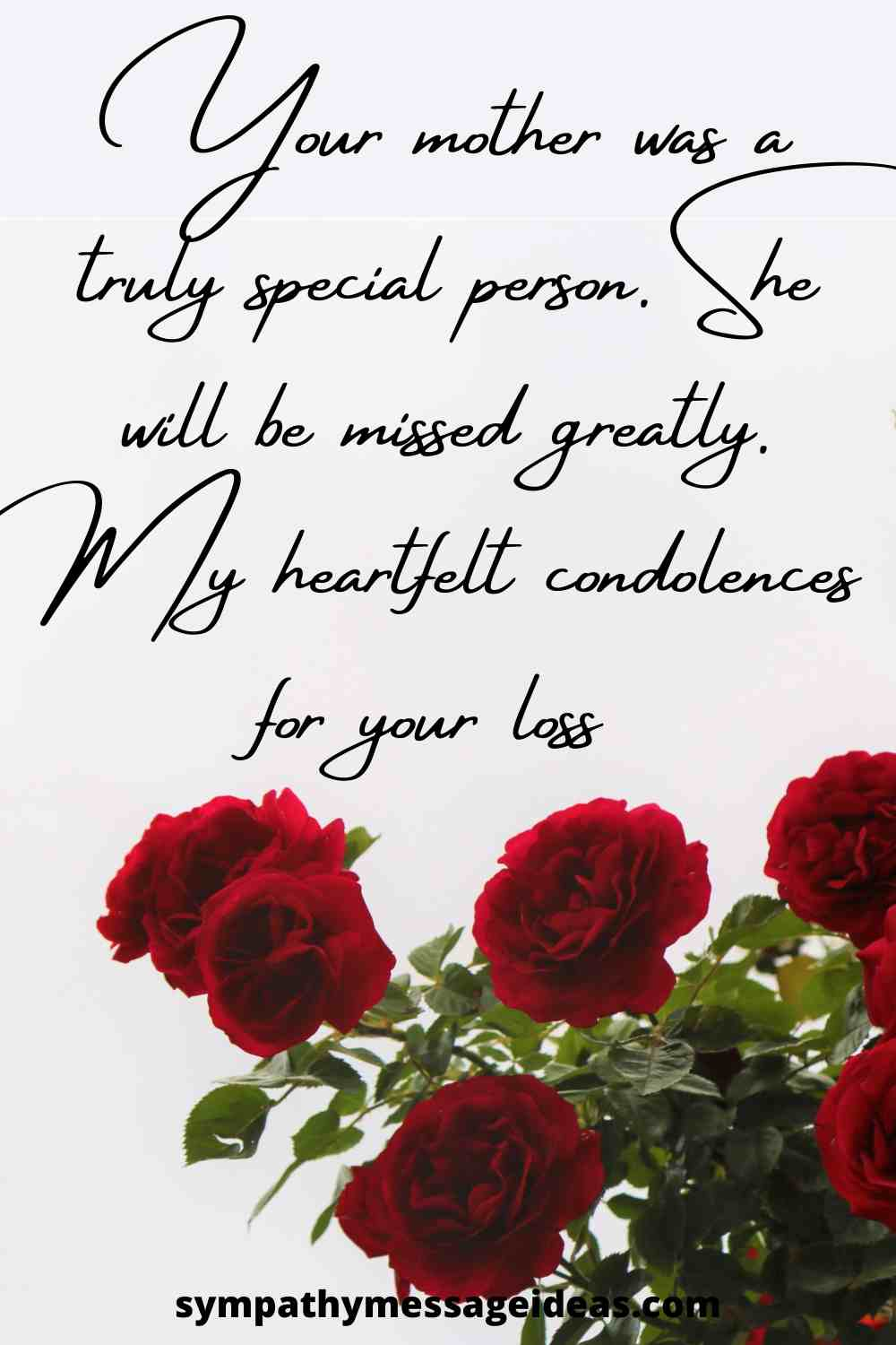 words of sympathy for the loss of mother